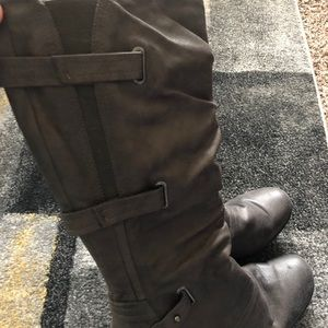 Shoes - Leather Gray Boots
